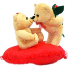 Couple on Heart with Rose and Love Toy Teddy Bear Rs 599/- http://www.tajonline.com/valentines-day-gifts/product/slw702/couple-on-heart-with-rose-and-love-toy-teddy-bear/?aff=pint2015/