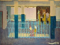 """artwork: Mark Rothko - """"Entrance to Subway"""", 1938 - Oil on canvas - x cm - Collection of Christopher Rothko. © 1998 Kate Rothko Prizel and Christopher Rothko. - On view at the Portland Art Museum in """"Mark Rothko"""" until May Mark Rothko, Rothko Art, Op Art, Saatchi Gallery, Abstract Painters, Klimt, Contemporary Paintings, American Artists, Canvas Art Prints"""