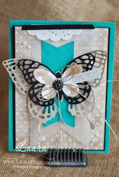 "Laura Milligan, Stampin' Up! Demonstrator - I'd Rather ""Bee"" Stampin!: Stamper's Dozen Blog Hop - Saleabration Accessories! - SU - Butterfly Basics & Thinlits"