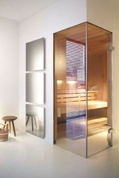 43 trendy home gym design layout bath Sauna Design, Home Gym Design, House Design, Design Design, Home Spa Room, Spa Rooms, Sauna Steam Room, Sauna Room, Modern Bathrooms