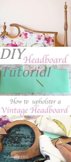 upholstered vintage Headboard tutorial - Remington Avenue (scheduled via http://www.tailwindapp.com?utm_source=pinterest&utm_medium=twpin&utm_content=post150220495&utm_campaign=scheduler_attribution)