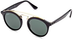 RayBan Injected Unisex Sunglasses  Black Frame Dark Green Lenses 46mm NonPolarized *** Learn more by visiting the image link.Note:It is affiliate link to Amazon.