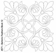 Quilting design for blocks Quilting Stitch Patterns, Quilting Designs, Embroidery Patterns, Quilt Patterns, Quilling Patterns, Stencil Patterns, Stencil Designs, Free Motion Quilting, Hand Quilting