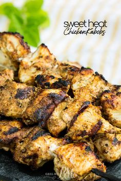 These Sweet Heat Chicken Kabobs are bursting with flavor. Juicy and tender, this chicken is perfect for tailgating or a cookout. Grilled Teriyaki Chicken, Chicken Kabobs, Tailgate Food, Tailgating, Bbq Food, Recipe Using Chicken, Chicken Recipes, Chicken Meals, Clean Recipes