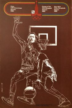 Moscow Olympic Games 1980 Basketball - original vintage sport poster for Basketball at the 1980 Olympic Games held in Moscow Russia listed on AntikBar.co.uk Winter Olympic Games, Winter Olympics, Vintage Sport, Vintage Cars, Olympic Logo, Dynamic Design, Racing Motorcycles, Moscow Russia, Show Jumping
