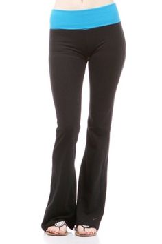 Yoga Fitness Gym Athletic Pants Contrast Color « Clothing Impulse - I could live in these pants all day!
