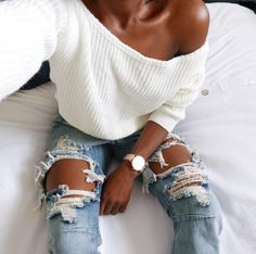 $14.75 Light blue ripped jeans.