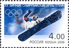 Sello: Snowboard (Rusia) (Winter Olympic Games 2006 - Torino) Mi:RU 1300 Winter Olympic Games, Winter Olympics, Snowboard, All Over The World, The Past, Torino, History Facts, Stamps, Sports