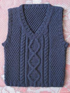 Предлагаю Вашему вниманию жилет, связанный для племянничка. Нитки Alize LanaGold, спицы 4,5. А вот описание http://knitka.ru/