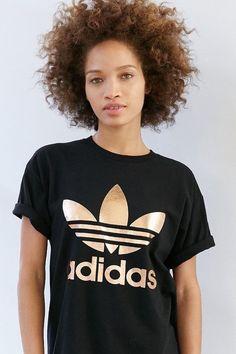 a639661fae58 Adidas Originals Rose Gold Double Logo Tee Adidas Vetement