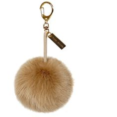 Honey Faux Fur Pom-Pom Key Ring ($35) ❤ liked on Polyvore featuring accessories, etc, extras, filler, fur and pom pom key ring