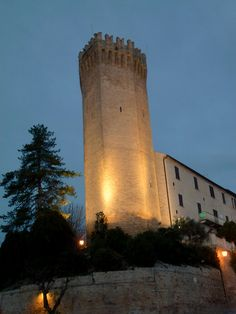 Marche - Heptagonal tower in Moresco (Italy)