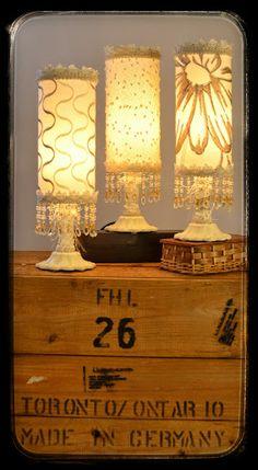 Les Minis, hauteur 12 1/2 pouces, 85.00$ Shades, Lighting, Home Decor, Minis, Decoration Home, Room Decor, Lights, Sunnies, Home Interior Design