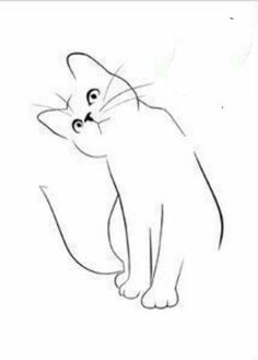 Custom Cat Portrait One Line Drawing Minimal Cat Line Art Cat Drawing, Drawing Sketches, Painting & Drawing, Drawing Ideas, Cat Silhouette Tattoos, Cat Tattoo Designs, Cat Quilt, Pencil Art, Rock Art