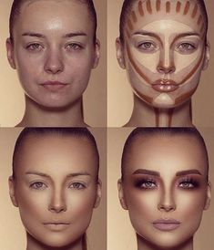 How To Do Make-up – Step By Step Ideas For The Good Look Spotlight contour hypnaughty.make-up samer khouzami mild pores and skin Makeup Contouring, Contouring And Highlighting, Skin Makeup, Makeup Cosmetics, Makeup Eyeshadow, Highlight Contour Makeup, Drugstore Makeup, Makeup Eyebrows, How To Apply Eyeshadow