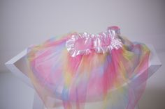 PROPS | Stephanie Resch Photography  Rainbow tulle tutu: 6 months - 1 year  * Perfect for rainbow babies! (can be pinned for newborns) Also great for 1 year / cake smash sessions 1st Year Cake, Tulle Tutu, Rainbow Baby, Some Ideas, Cake Smash, Newborns, Photography Props, 1 Year, 6 Months