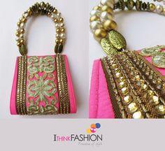 Handbag Fashion Trends - Neon Pink Clutch Bag, Black embroidered clutch bag | Fashion Trends & Lifestyle Blog by iThinkFashion