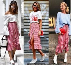 3 gorgeous ways to style a gingham skirt; which one do you like most?  . VOTE  https://goo.gl/HVwHkF (or TAP the link in our bio)  pics: @ps.shadesofmylife  @cristinasurdu @andreaslookbook . . . . . . . . #ootd #streetstyle #styleblogger #outfitinspiration #FashionInspo #outfitideas #styleguide #StyleTips #stylechallenge #fashionblogger #outfitoftheday #Fashionista #casualstyle #casualoutfit #streetstylefashion #fashionblogger #fblog #fblogger #fashionblogs #fashionblog #bestdressed #gingham…