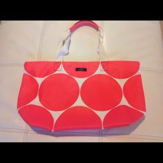 Super cute waterproof tote by Kate Spade. Great for all your beach essentials and its waterproof with a wonderful summer color scheme. Please no trades. kate spade Bags Totes
