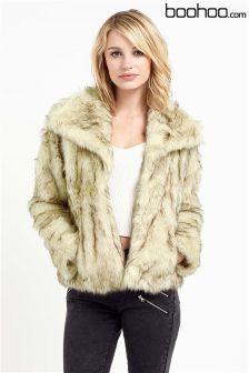 Boohoo Vintage Faux Fur Coat