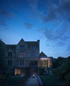 'Quatrefoil House' garden elevation at dawn, Hyde + Hyde Architects
