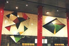 Tiles of Chelas Metro Station in Lisbon
