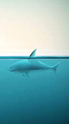 Abstract Ocean Shark #iPhone #5s #Wallpaper