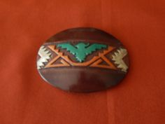 Vintage Leather Belt Buckle by AlwaysPlanBVintage on Etsy