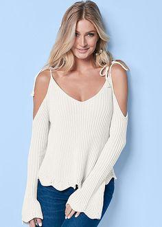 Cold Shoulder Tie Sweater ~ $32.00 at venus.com