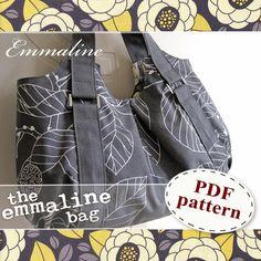 Emmaline Bag PDF Sewing Pattern - An ePattern for Handmade Purse, Handbag, Shoulder or Tote Bag