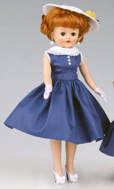 Offered for sale in a 10 day Ebay auction. Vogue Sunday Best Vintage Reproduction Jill Doll 2011 #VogueDollCompany #Dolls
