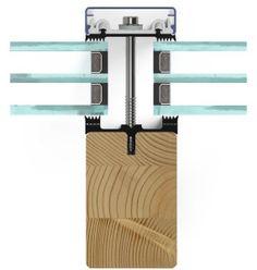 Pfosten-Riegel-Fassade aus Holz