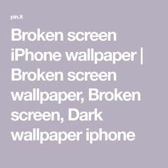 Broken screen iPhone wallpaper   Broken screen wallpaper, Broken screen, Screen wallpaper