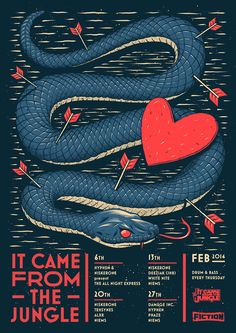This designer is amazing. It Came From the Jungle - February by Ian Jepson, via Behance