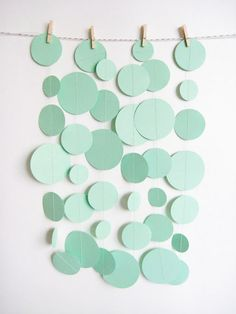 easy + pretty wall decor, or party garland substitute