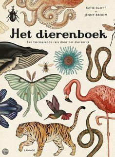 Het dierenboek. Illustrator Katie Scott maakte samen met Jenny Broom het boek Animalium. Dit museum in boekvorm geeft een overzicht van alle levende soorten op aarde. Dat zijn er meer dan twee miljoen en door middel van illustraties en informatieve teksten ontdek je veel over biodiversiteit. Van mens tot buideldier en van vliegend insect tot kwal. Het dierenboek, Jenny Broom en Katie Scott, € 19,99 (Lannoo).