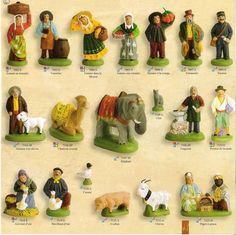 Le village des santons Escoffier - l'éléphant, Santons (French) Christmas Nativity, Christmas Holidays, Vignettes, Dolls, Crafts, Holiday Ideas, Kitchen Ideas, French, Nativity Sets