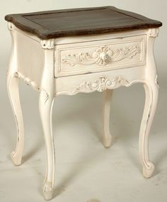 Painted Two-Toned Occasional Table | End Tables | Inessa Stewart's Antiques