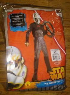 STAR WARS  Child costume the INQUISITOR boy's size 8-10 mask included RUBIE'S…