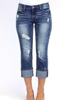 b72364009b3e4 The Playback Cuffed Jean by Dear John features a flattering curvy fit and a straight  leg
