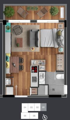 The price reach of the Apartment was amazing. Small Apartment Layout, Studio Apartment Floor Plans, Studio Apartment Layout, Apartment Plans, Hotel Apartment, Small House Plans, House Floor Plans, Espace Design, Hotel Room Design