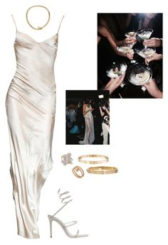 """Untitled #208"" by honeybhoneyb ❤ liked on Polyvore featuring René Caovilla, Cartier and Ross-Simons"