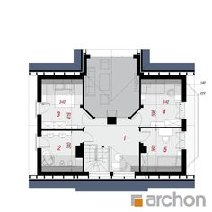 Dom w melisie Minimalist Home, My House, House Plans, Villa, Floor Plans, How To Plan, Future, House, Minimalist House