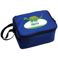 Personalised Dinosaur Lunch Bag Send your kids lunch to school in this funky Dinosaur lunch bag! Personalise this lunch bag with any first name up to 20 characters (please include the s if required) This bag also has an adjustable s http://www.MightGet.com/january-2017-13/personalised-dinosaur-lunch-bag.asp