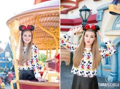 Senior Pictures in Disneyland California by photographer Tara Rochelle