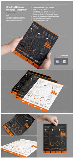 Best Infographic Resume CV Templates (Creative Examples for Infographic Resume Template, Creative Infographic, How To Create Infographics, Resume Design Template, Cv Template, Creative Resume Templates, Templates Free, Creative Cv, Creative Resume Design