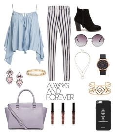 """""""Like that"""" by brendasofia13 on Polyvore featuring moda, Sans Souci, Dondup, Nly Shoes, MICHAEL Michael Kors, Sole Society, Monki, Erickson Beamon, Marc by Marc Jacobs y Tiffany & Co."""