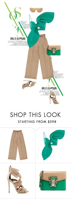 """""""Outrageous"""" by drigomes ❤ liked on Polyvore featuring Chloé, Giuseppe Zanotti, Dolce&Gabbana and Linda Farrow"""