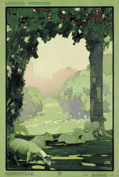1918: 'London Memories' | 20 Gorgeous Vintage Posters For The London Underground