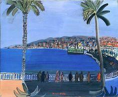 Raoul Dufy – Dusk a la Baie des Anges, Nice 1932 Raoul Dufy, Land Art, Art Fauvisme, Fauvism Art, Francis Picabia, Landscape Mode, Urban Landscape, Art Graphique, French Artists